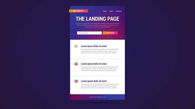 Landing Pages Ejemplo de E-Commerce