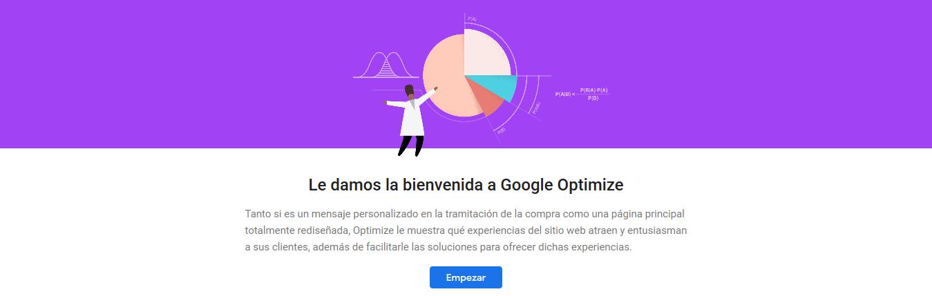 marko bension Cuentas - Google Optimize - Herramientas para analizar tu página web