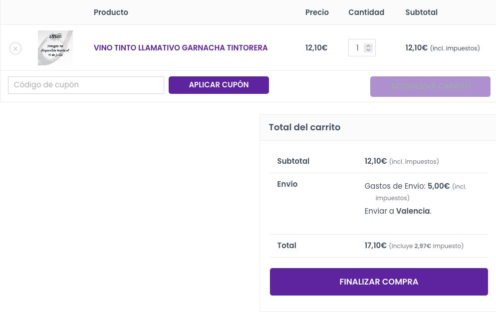 Gastos de envio en WooCommerce Screenshot 2021-07-08 at 23-35-18 Carrito – Llamativo