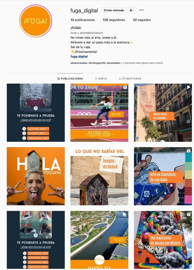 Fuga Digital Instagram Redes sociales Agosto 2021
